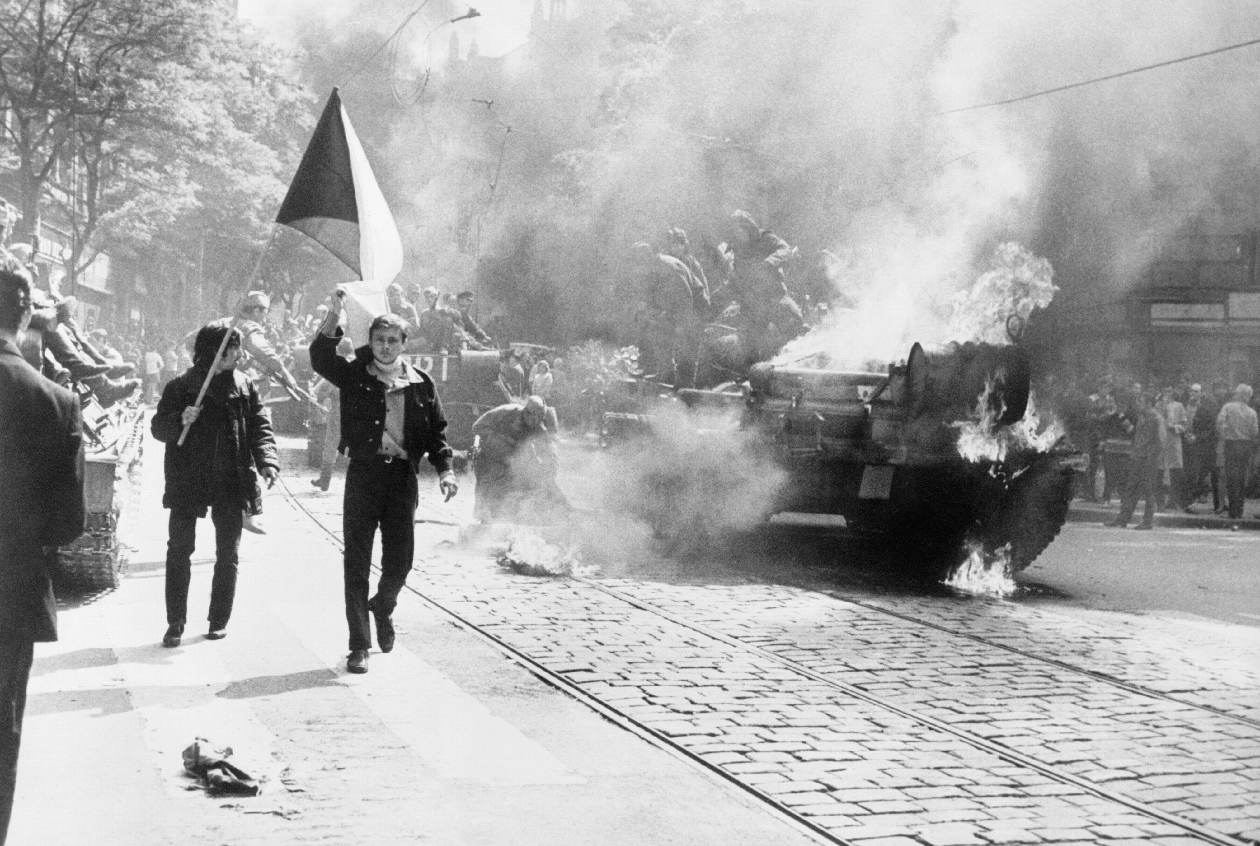 """""""Live"""" coverage of the 1968 Invasion of Czechoslovakia"""