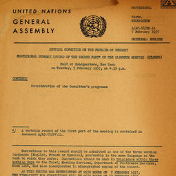 UN Special Committee Documents