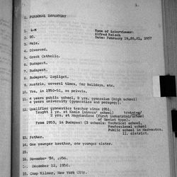 CURPH Interviews with 1956 Hungarian Refugees