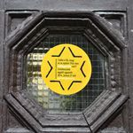 yellow-star house sticker