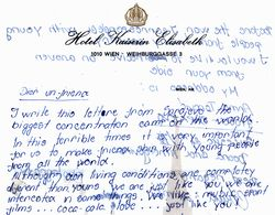 children's war letters from Sarajevo