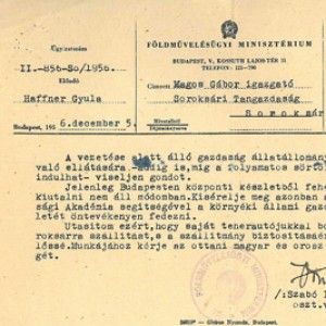 Personal Papers of Gábor Magos