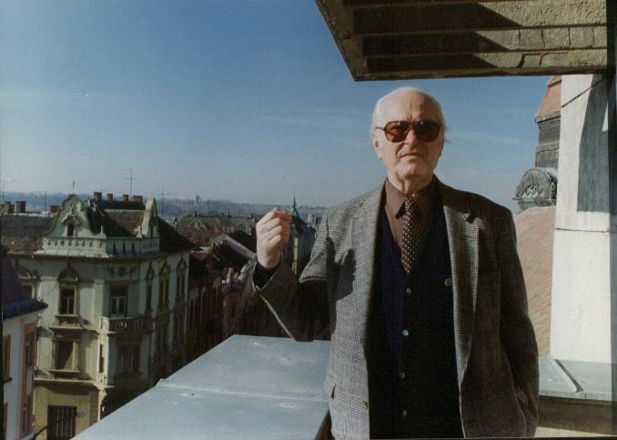Béla Király in Kaposvár (Photo: Károly Makai)